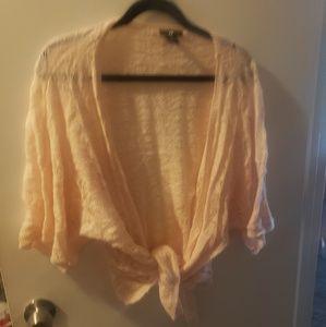 Pink knit shawl like shurg